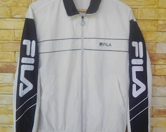 fila sweater big spell out embroidered L size