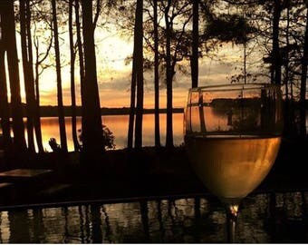 Wine at Sunset Photography Print