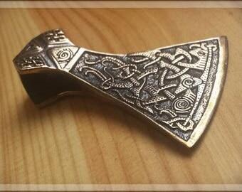Bronze viking axe pendant