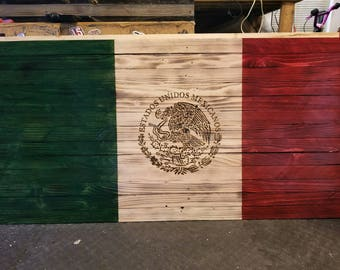 Handmade Mexican flag