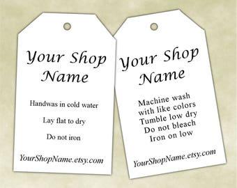 clothing labels washing instructions