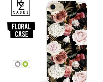 Floral Phone Case, iPhone 7 Case, Flower Phone Case, iPhone 6s Case, Floral iPhone Case, iPhone 5 Case, iPhone 6 Plus, Samsung Galaxy S7