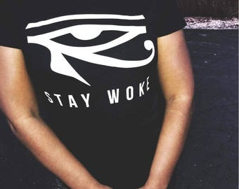 Womens Stay Woke Tee