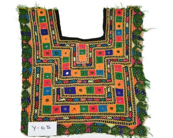14x11 inch Indian Vintage Patch Embroidery Applique kutch patch old handmade Fabric 05