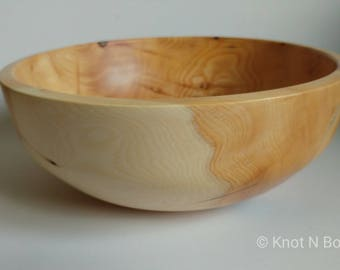 Large Handcrafted Yew Bowl