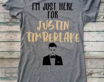I'm Just Here For Justin Timberlake Shirt, Superbowl, Super Bowl, Football, NFL, Adult, Mama, Sparkle, Half Time, Justin Timberlake, Nsync