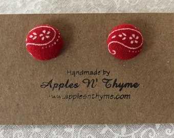 """Fabric button earrings 