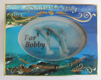 With name, a gift for dad, son, brother, soap, a gift for the girl,soap with a photo.
