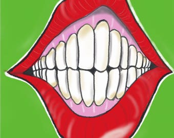 The ugly teeth 8x10 art print