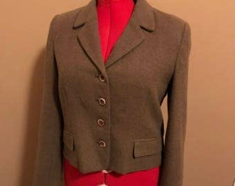 Brown, Harve Benard , Short woman's wool blazer