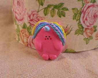Pink Unicorn Pins, Polymer clay Unicorn, pink unicorn brooch, rainbow  unicorn, pink unicorn jewelry, cute unicorn jewelry, chubby unicorn