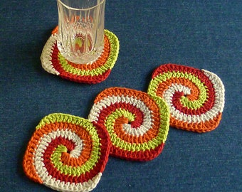 Candy Corn Coasters, Set of 4