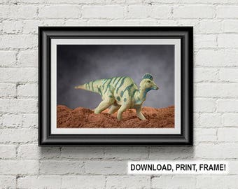 Dinosaur print,Corythosaurus,Cretaceous  Art,Prehistoric animal,Dinosaur,Wall Art,Dinosaur poster, Room Decor,Office decor,Kids bedroom