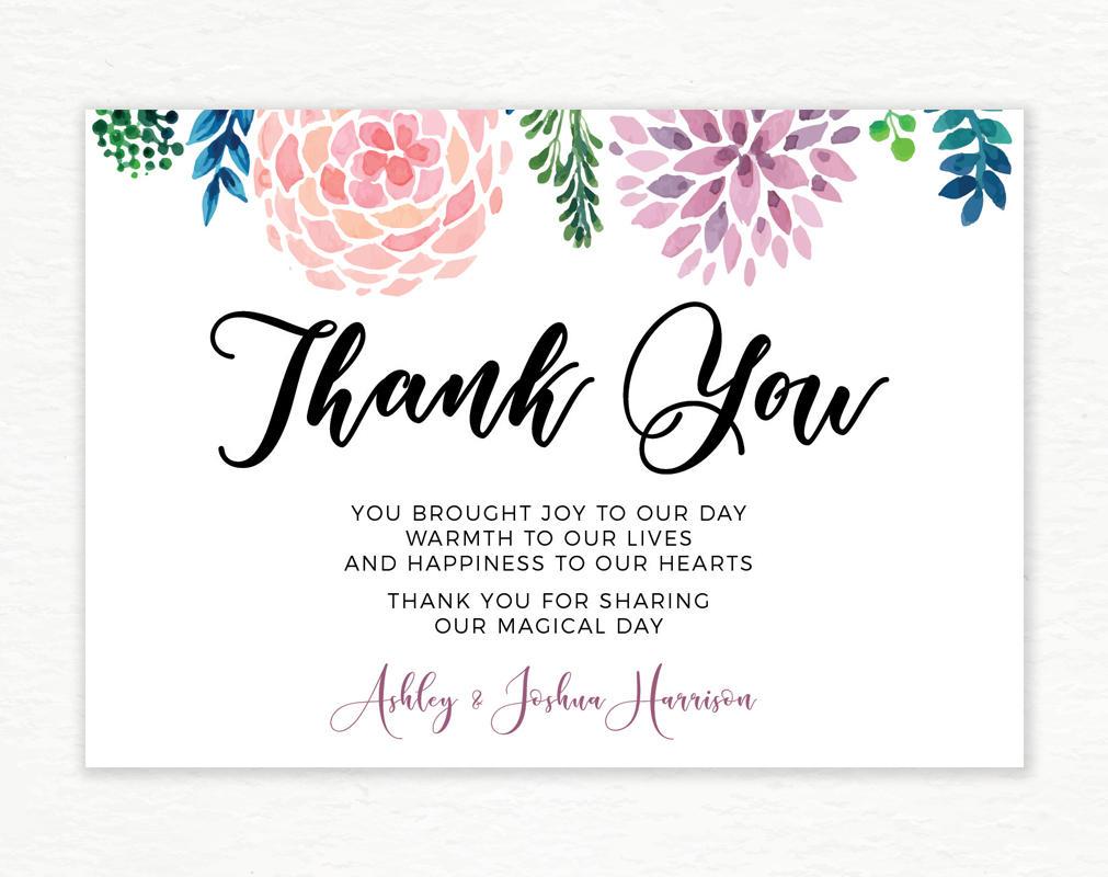 Printable Thank you card, Digital thank you card, Digital