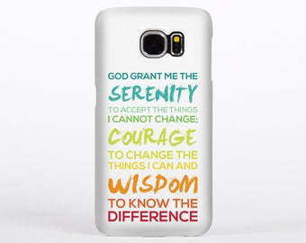 Serenity Prayer Tough Phone Case for Samsung Galaxy S5, S6 & S7
