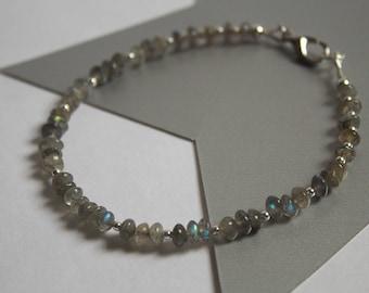 Labradorite and Silver Bracelet