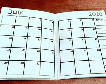 B6 Traveler's Notebook Monthly Insert