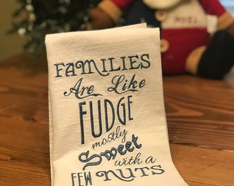 Embroidered Flour Sack Kitchen Towel