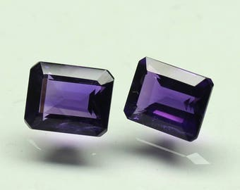 Natural Amazing AAA  purple African Amethyst Size 8x10 MM faceted PCs Lot Octagon CODE :- AQ11