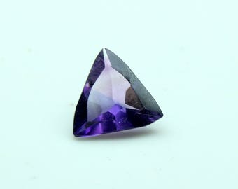 AAA Natural African Amethyst Trillion Faceted Size- 8x8x4  Fine Quality Purple Amethyst CODE A03