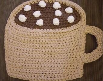 Crochet Hot Chocolate Mug Dishcloth