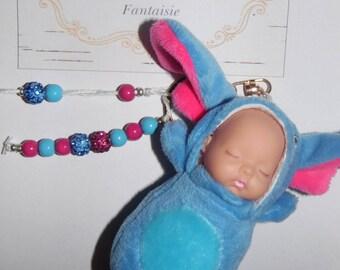 Baby cartoon tassel Keychain personalized
