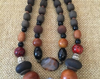 Namystoshop.  Beads in the style of Boho. Central bead magnificent agate.