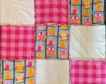 Owl rag blanket