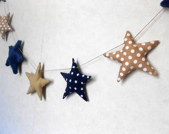Decorative Garland with stars fabric