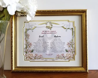Personalized Wedding Gift, Personalized Wedding Frame, Gift for Wedding, Custom Wedding Gift, Gift for Bride and Groom, Anniversay Gifts