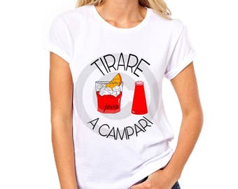 T-Shirt ' pull to Campari ' woman