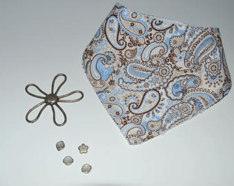 Blue and Brown Bandana