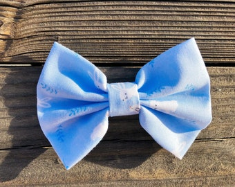 Blue Bunny Cotton Bow