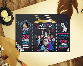 Frozen Invitation, Frozen Birthday, Frozen Party, Frozen Invite, Frozen Birthday Invitation, Frozen Party Invitation, Frozen Card, F1006
