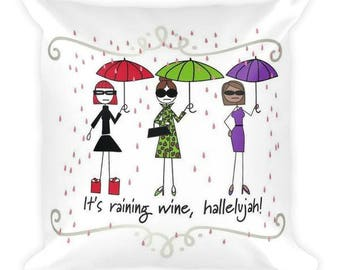 Wine Lovers Double-Sided Pillow