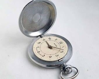 Rare Vintage Soviet MOLNIJA pocket watch for blind VISION Braille. USSR