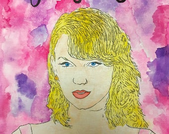 """Taylor Swift """"Gorgeous"""" Watercolor Lyric Painting"""