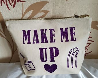 Large makeup, cosmetic bag
