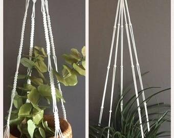 Eenvoudige macrame plantenhanger/ Simple plant hangers/ Hanging planters/Air plant/Home Decor/ Muurdecoratie/ Wall decor