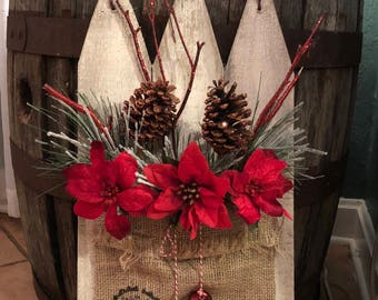 Rustic Picket Fence Wall/Door Hanger