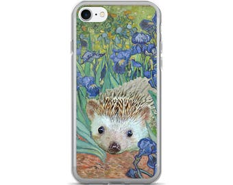 Irises and Also a Hedgehog iPhone 7/7 Plus Case A Pricklepants Original Art Through The Ages Design