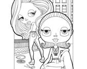 Series III PDF  |  Four Total Babesville: New York Edition Coloring Pages