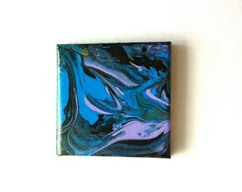 Mini Abstract Painting | Canvas Painting | Small Painting | Abstract Painting | Acrylic Pour | Mini Paintings | Mini Abstract Art | Painting