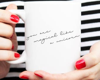 minimalist mug, minimal mug, handwritten look, written design, mug design