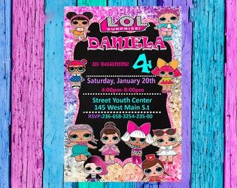 Lol Surprise Invitation-Lol surprise Birthday Invitation-Lol Surprise Party-Lol Surprise Card Printable