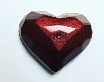 Custom Gem Heart Soap