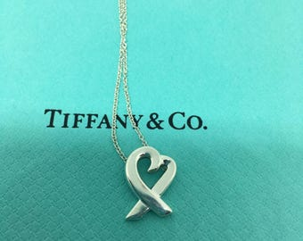 Tiffany and Co. Paloma Picasso® mini Loving Heart  Necklace 925 Silver. Nothing says love better than a Tiffany Necklace! Gift for Her!