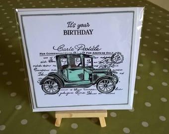 male birthday card  car