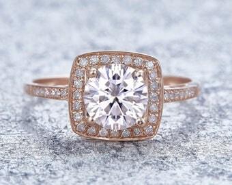 Schöner Moissanit Diamant Ring