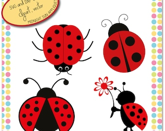 Lady bug SVG, Lady bug cut file, dxf, clipart, cute svg, animal svg, lady bug for cricut, silhouette cameo, svg for girls